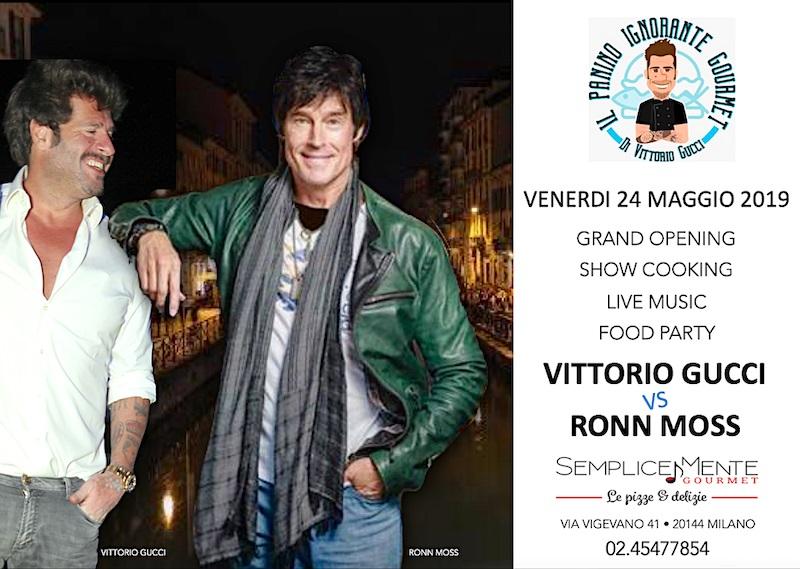 Vittorio Gucci e Ron Moss