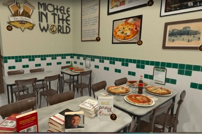 Il tour virtuale de L'antica Pizzeria da Michele
